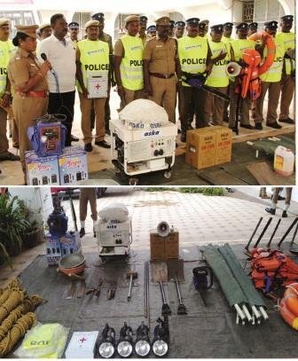 நாமக்கல் மாவட்டத்தில் போலீஸ் துறை சார்பில் தயார் நிலையில் 44 பேர் அடங்கிய பேரிடர் மீட்புக் குழு