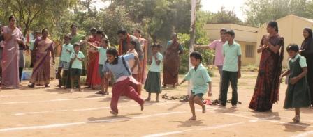 நாமக்கல்லில் மாற்றுதிறனாளி மாணவர்களுக்கான விளையாட்டு போட்டி