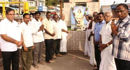 நாமக்கல்லில் தியாகராஜபாகவதரின் 59வது நினைவு நாள் நிகழ்ச்சி : படத்திற்கு மலர்தூவி மரியாதை
