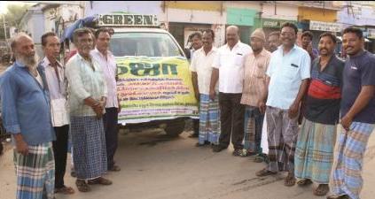நாமக்கல் மாவட்ட இஸ்லாமிய சேவை மையம் சார்பில் கஜா புயல் நிவாரண பொருட்கள் வழங்கல்
