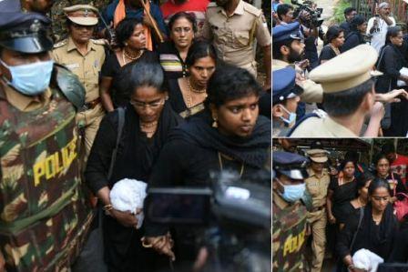 தமிழக பெண் பக்தர்கள், கேரள போலீஸ் துணையுடன் மீண்டும் சபரிமலைக்கு பயணம்