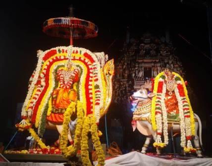 பெரம்பலூரில் மாசிமகத் பெருந்திருவிழா: சந்தசேகரர் – ஆனந்தவள்ளி அன்ன வாகனத்தில் காட்சி