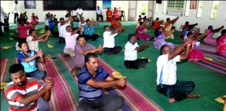 உடற்கல்வி ஆசிரியர்களுக்கு பெரம்பலூரில், யோகா பயிற்சி